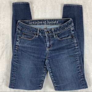 Articles of Society Mya Classic Jeans Size 26 Low Rise Factory Fade Super Soft